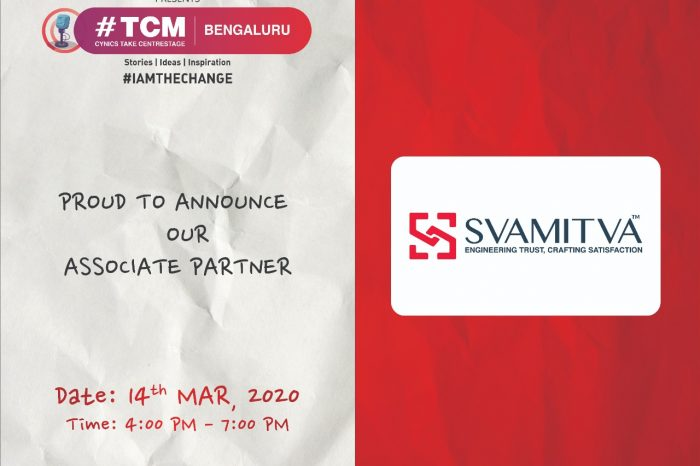 "Svamitva Sponsers ""#TCM Bengaluru"" an event by the cynical marketer"
