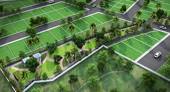 Jogging track with sit-out