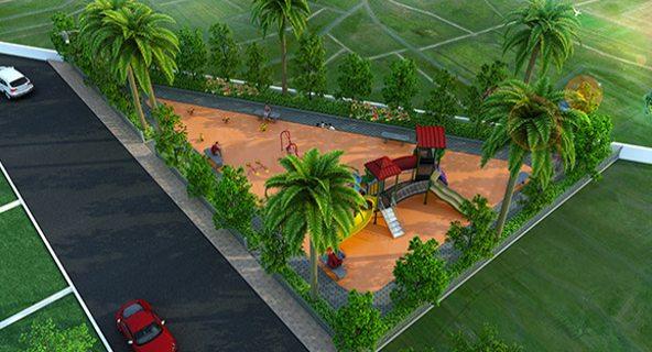 Rubberized Children play area